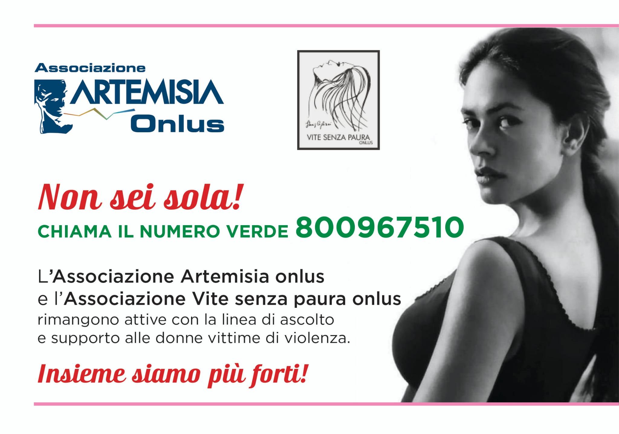 Fase 3: agire subito contro violenza donne, alleanza Artemisia-Vite Senza Paura